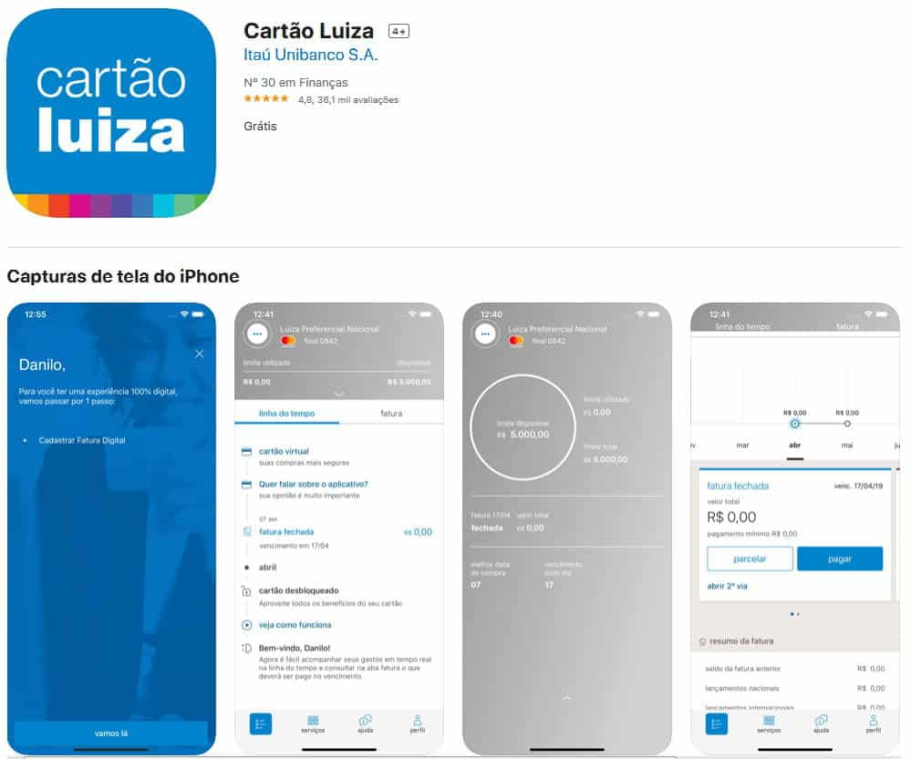 como-ver-fatura-digital-no-app-cartao-luiza